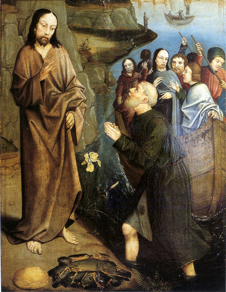 Third Coming of Christ Miraculous Draught of Fish (c. Early 16th Century) Painting by Aelbrecht Bouts